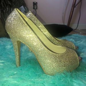 Aldo Gold and Silver Heels